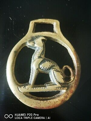 Greyhound Lurcher Brass Decoration Ornament Horsebrass