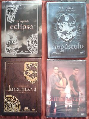 Saga Crepusculo Twilight Collection 3 Steelbook 9 Dvds  + Amanecer + Poster
