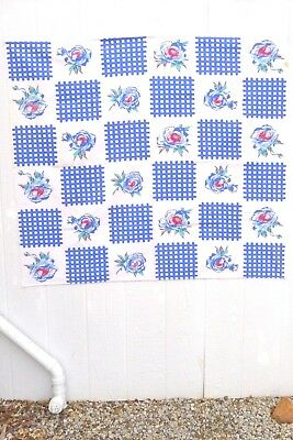 Tablecloth_Magnolia floral motif_Print_L 53xW 47 in._Kitsch_Mid-century_Vintage