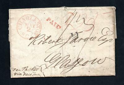 1835 Stampless Entire 'Liverpool Ship Letter' Charleston To Uk