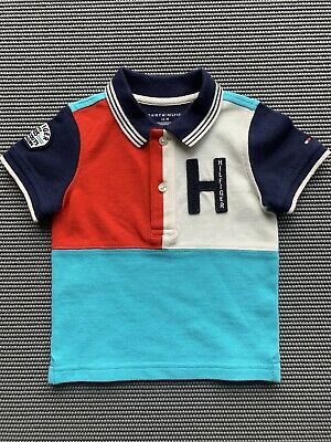 Tommy Hilfiger Short Sleeve Polo Shirt 12M Red White & Blue SAMPLE
