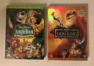 The Jungle Book and The Lion King Brand New 2 DVD Combo Free Shipping