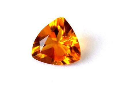 Citrine Quartz Faceted Trillion 7 Mm Cut Loose Natural Gemstone 1 Pc #1172 -A