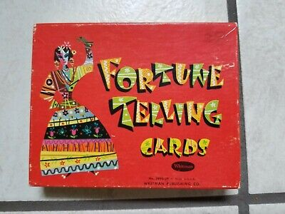 "Vintage 1940 Whitman ""Old Gypsy"" Fortune Telling Cards Tarot Deck!"