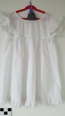 Vintage Hand Made Broderie Anglais Baby Pinafore