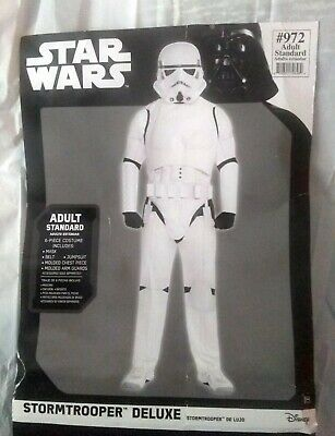 Star Wars StormTrooper Deluxe Costume Adult Standard w/o Mask