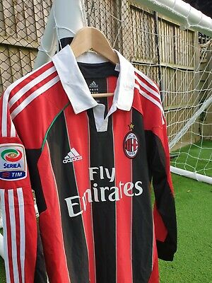 AC Milan Home Football Shirt 12/13 M No.6