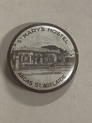 St Mary's Hostel Angas Street Adelaide Button Badge Catholic Womens League