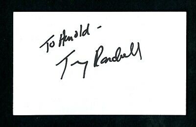 TONY RANDALL Actor ODD COUPLE Signed Autographed 3 x 5 Index Card - NM d. 2004