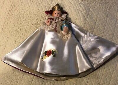 """Vintage The Queen Ceramic Small Stautue Corination, Gown, Crown #345 7.5"""""""