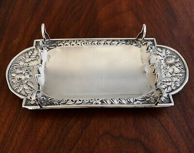 - Gorham Co Sterling Silver Ball Footed Pen / Pencil Tray 1893 #40 No Monogram