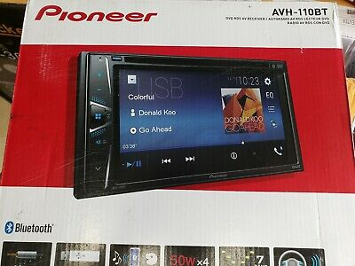 Pioneer AVH-110BT DVD Screen Double-Din DVD Bluetooth Receiver, 6.2""