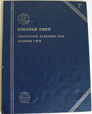 1941-1975 Lincoln Head Penny Cent Collection W/ 86 Coins Whitman #9030 Album