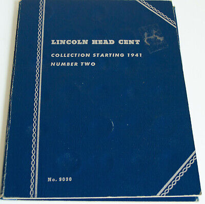 1941-1975 Lincoln Head Penny Cent Collection W/ 85 Coins Whitman #9030 Album