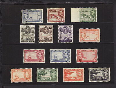 CAYMAN ISLANDS 1938 KGVI DEFINITIVE COMPLETE 14 STAMPS SET to 10s MINT