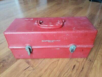 Vintage Whopper Stopper Tackle Box Fishing Box Red
