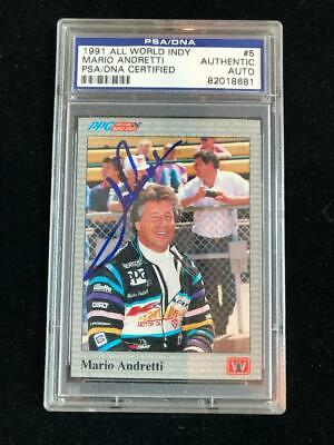 Mario Andretti Signed Autographed PSADNA Authenticated / Slabbed 1991 All World