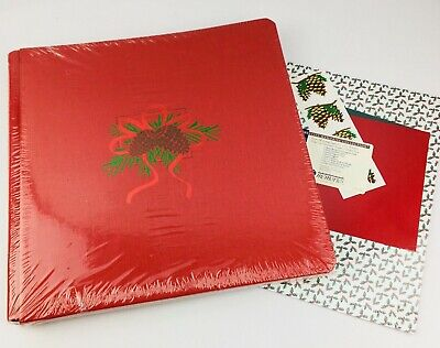 Creative Memories 12x12 Christmas Album Pinecone Red Linen & Pretty Paper Pack