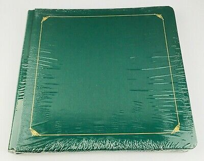 Creative Memories 12x12 Green Album Gold Accents with 15 White Scrapbook Pages