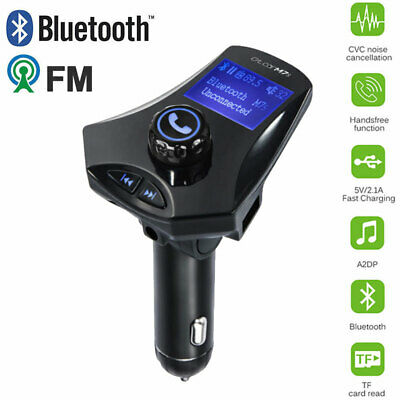 Wireless Bluetooth LCD Car MP3 FM Transmitter AUX Disk Charger USB Handsfree Kit