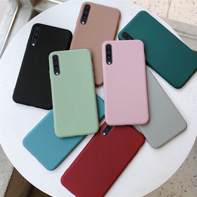 For Samsung Galaxy A9 A7 A6+ 2018 Slim Soft Silicone TPU Frosted Back Case Cover