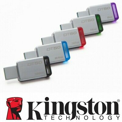 Kingston DataTraveler DT50 USB 3.0 Flash Drive Memory Sticks 8/16/32/64/128GB Kj
