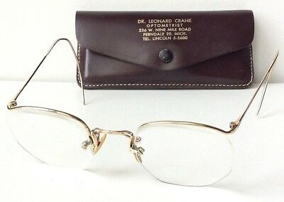 Vtg American Optical AO 1/10 12K GF Gold Fill NUMONT Ful-Vue Wire Eyeglass Frame