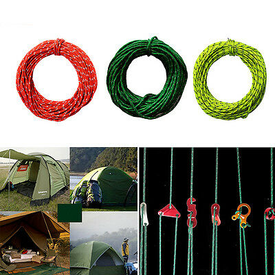 2.5MM 50foot Reflective Guyline Camping Tarp Tent Rope Line Cord  UP