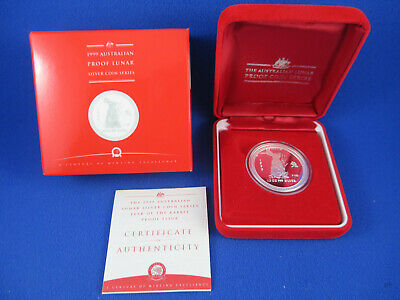 1999 AUSTRALIAN LUNAR YEAR OF THE RABBIT - SILVER PROOF 1/2oz COIN - NUMBERED 29