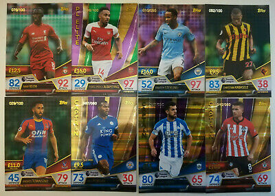 MATCH ATTAX ULTIMATE 18/19 2019 NUMBERED CARDS green & Purple