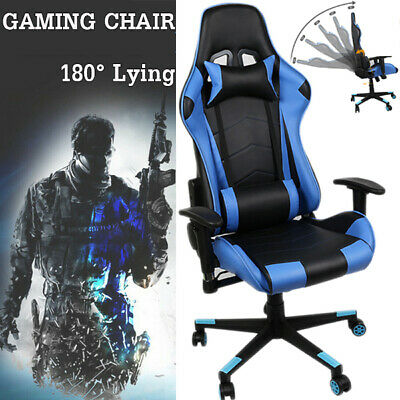 Office Gaming Chair Racing Ergonomic Leather High Back Computer Seat Recliner US