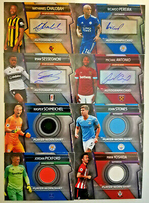 Topps MATCH ATTAX ULTIMATE 18/19 2019 signed AUTOGRAPHS AND RELIC shirt  CARDS