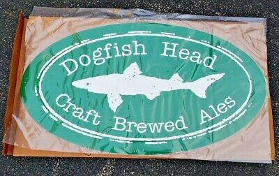 """Dogfish Head Craft Brewed Ales Large Metal Beer Sign 35.5 x 19.5"""" New RARE"""