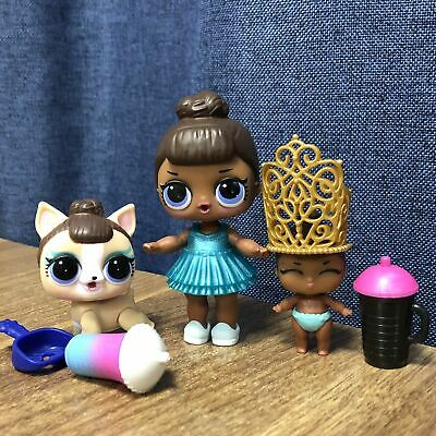 LOL Surprise Doll MISS BABY Big Sister & LiL Sis & Pet Glam Club Toy Gift Family