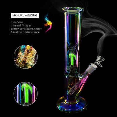 Rainbow and  Glow In Dark Green Bongs Water Pipes