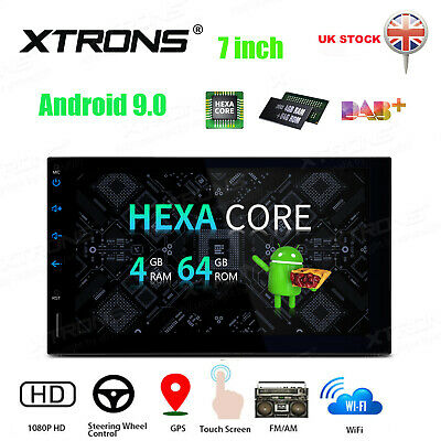 """XTRONS 7"""" Android 9.0 Double DIN Car Stereo Radio Player In Dash GPS Navi 4+64GB"""