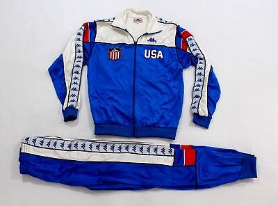 59f9fa9a0a 1984 VINTAGE MENS KAPPA USA Olympic Games Los Angeles Track Suit Top ...