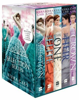Kiera Cass Selection Series Collection 5 Books Set (The Heir,Selection,Crown)