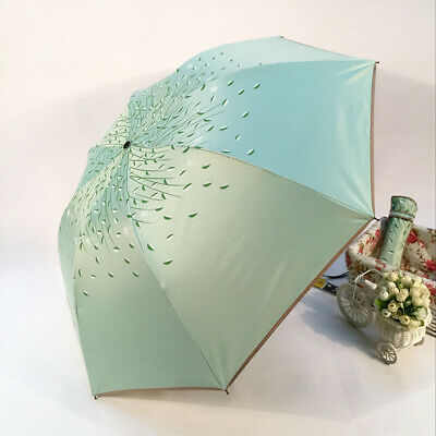 Leaf Folding Umbrella Double Layer Windproof Inside Out Inverted Sunblock Rain