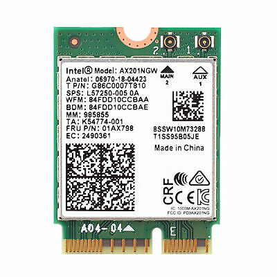Dual Band Wireless Intel AX200 NGFF Wifi Bluetooth 5.0 Card AX200NGW 802.11ac/ax