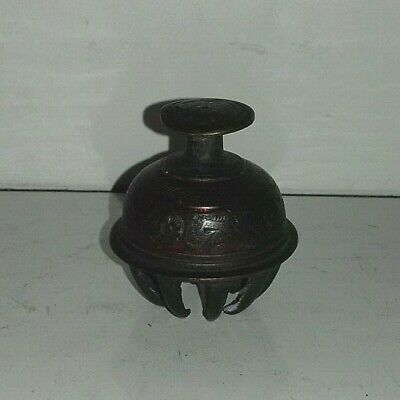 Vintage Brass Painted Elephant Claw/Temple Bell....(St2)