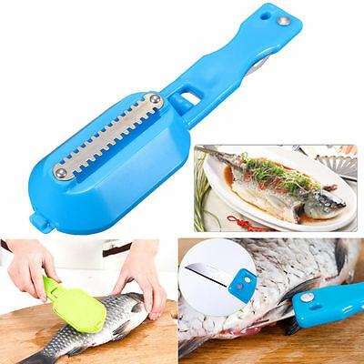 Fish Scales Skin Remover Scaler Cutter Fast Cleaner Home Kitchen Clean Tool Nice
