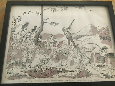 Original Griffin cartoon of Royal Family sell for over £200 at Gallery.
