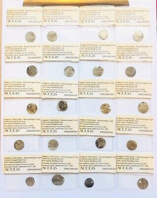 20 Authentic 1400s Medieval Silver Coins Above Average to High