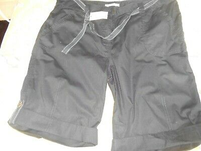 New longer length black ladies shorts size 16 with tags