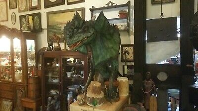 Dinosaur Sculpture, Movie Prop quality Dilophosaurus with stand 1st two pictures