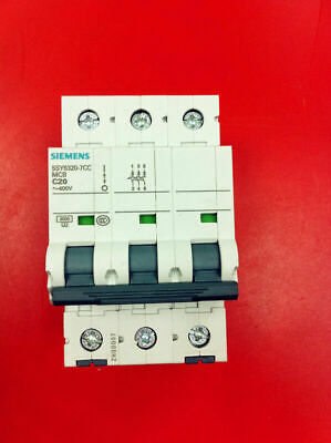 MAKE OFFER! SIEMENS 5SY6320-8 CIRCUIT BREAKER D20  3-P 20A 400V  GOOD TAKEOUT