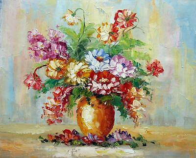 Vase Flower 16x20 in. stretched Oil Painting Canvas Art Wall Decor modern102