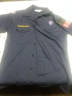 BSA Cub Scout Blue Uniform Shirt Youth Large Official Boy Scouts of America