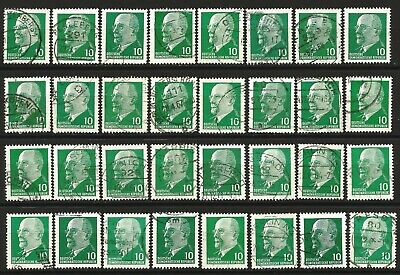 Germany (East) DDR GDR 1961 Collection used Ulbricht Defins 10 Pf unchecked #156